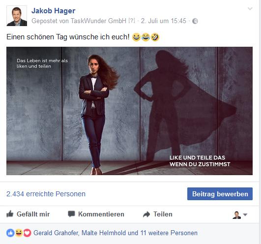 Guten Inhalt und Bilder in deinen Posts verwenden für höhere Facebook Reichweite
