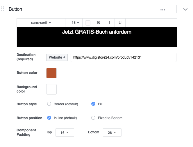 Call-to-action in Facebook Canvas einfügen