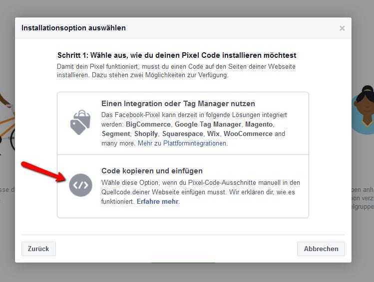 Facebook Pixel WordPress - Code kopieren