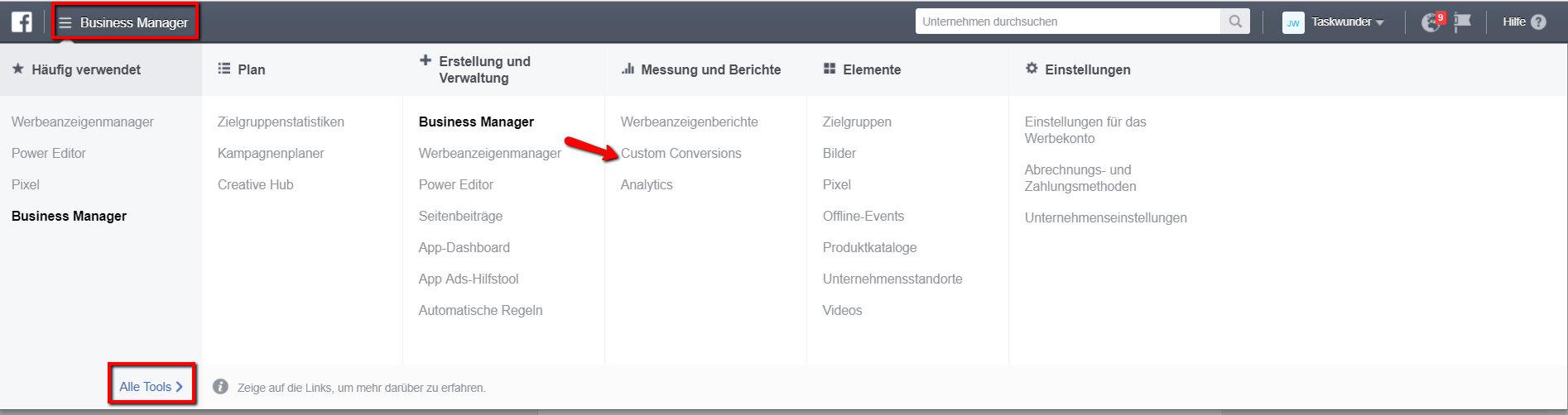 Benutzerdefinierte Zielgruppen und Konversion für Facebook Remarketing