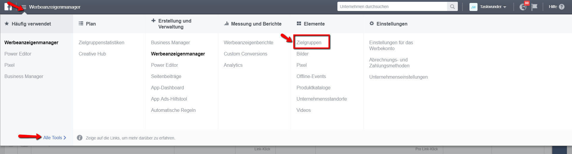 Benutzerdefinierte Zielgruppen erstellen für Facebook Remarketing