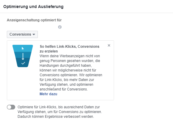 Conversion Optimierung - neues Tool